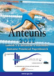 samedi 5 & dimanche 6 novembre Domaine Provincial Puyenbroeck