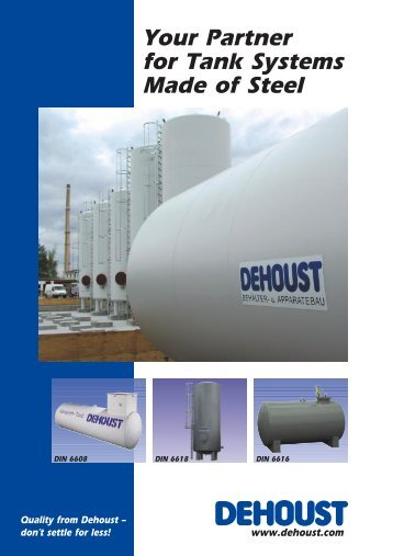 Your Partner for Tank Systems Made of Steel