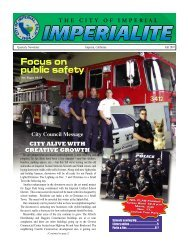 Focus on public safety - the City of Imperial