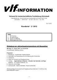 Rundbrief 2 / 2012 - Amt für Ernährung, Landwirtschaft und Forsten ...