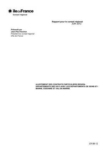 Ajustement des contrats particuliers région départements ... - amutc