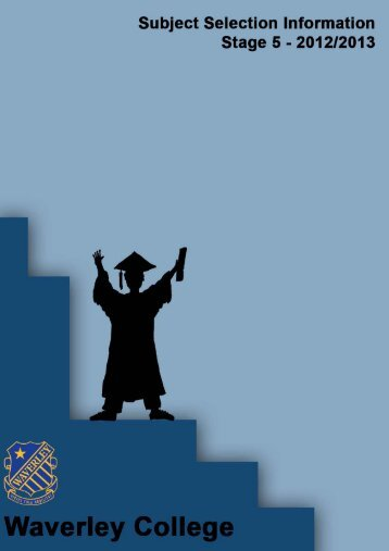 Stage 5 Subject Selection Handbook - Waverley College
