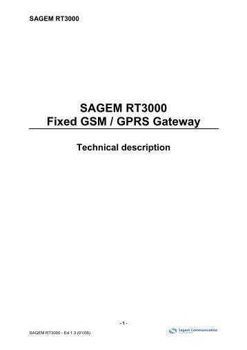 SAGEM RT3000 Fixed GSM / GPRS Gateway