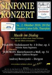 Musik im Dialog - Congress Union Celle