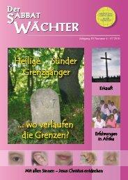 Jahrgang 85 Nr. 4 - Reformierte Siebenten-Tags-Adventisten in ...