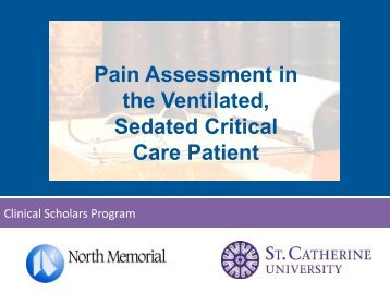 Pain Assessment in the Ventilated, Sedated Critical Care Patient