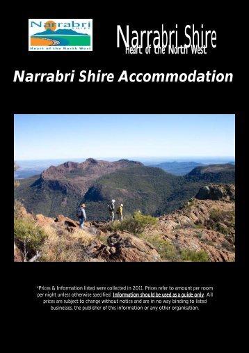 Narrabri Shire Accommodation Guide - Narrabri Shire Council
