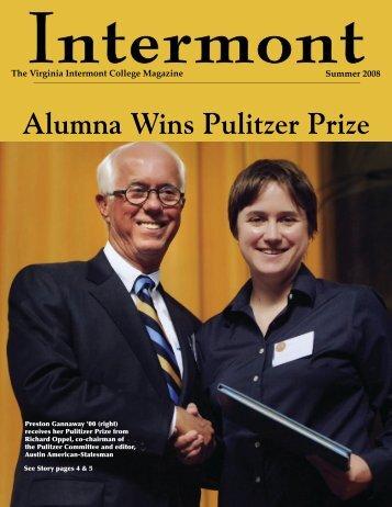 Alumna Wins Pulitzer Prize - Virginia Intermont College