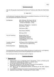 Niederschrift über die Sitzung des Ausschusses für Kultur ... - in Kalkar