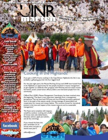 UINR Marten–Vol.8 Issue 3-Fall 2012 - Unama'ki Institute of Natural ...