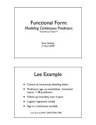 Functional Form: Lee Example