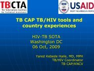 TB CAP TB/HIV tools and country experiences - CORE Group