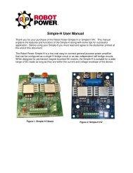 Simple-H User Manual - Robot Power