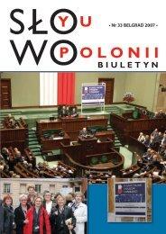 • Nr 33 BELGRAD 2007 • - Polonia-serbia.org
