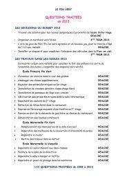 QUESTIONS TRAITEES en 2013 - Site officiel de la ville d'Aubagne ...