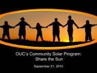 OUC's Community Solar Program: Share the Sun