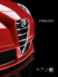 PREISLISTE Alfa Romeo MiTo