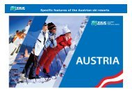 TEZ LOGO Specific features of the Austrian ski resorts - Tez Tour