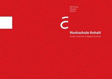 Imagebroschüre 2012 - Hochschule Anhalt