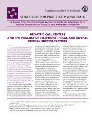 Pediatric Call Centers and the Practice of Telephone Triage and ...