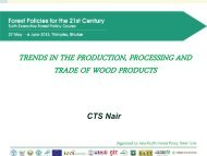trends in the production, processing and trade of wood products