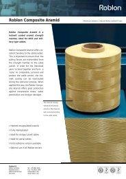9-Roblon Composite Aramid.indd - Roblon A/S
