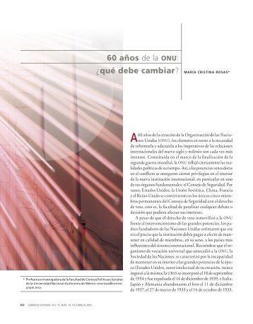 60 años de la ONU: ¿qué debe cambiar? - revista de comercio exterior