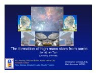 The formation of high mass stars from cores - University of Florida