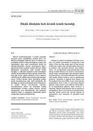 Düşük dönüşüm hızlı üremik kemik hastalığı - Tıp Araştırmaları Dergisi
