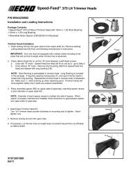 Speed-Feed® 375 LH Trimmer Heads