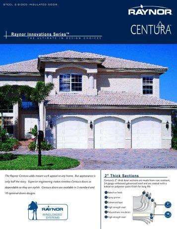 80 free magazines from raynor com for Raynor centura garage doors