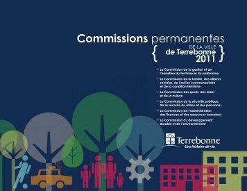 Commissions permanentes - Ville de Terrebonne