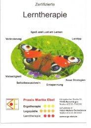 Unser Flyer Lerntherapie - Praxis für Ergotherapie Marita Ebel