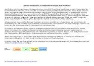 Aktuelle Informationen zur integrierten Versorgung in der Psychiatrie