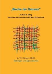 Woche der Demenz - Alzheimer Gesellschaft Hattingen und ...