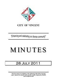 26 July 2011 - City of Vincent