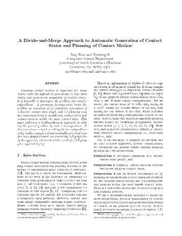 A Divide-and-Merge Approach to Automatic Generation of Contact ...