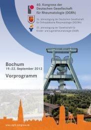 Bochum Vorprogramm - DGRH-Kongress
