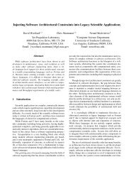 Injecting Software Architectural Constraints into Legacy Scientific ...