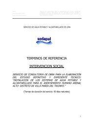 TDR INTERVENCION SOCIAL ARENAL ALTO.pdf - sedapal.com.pe