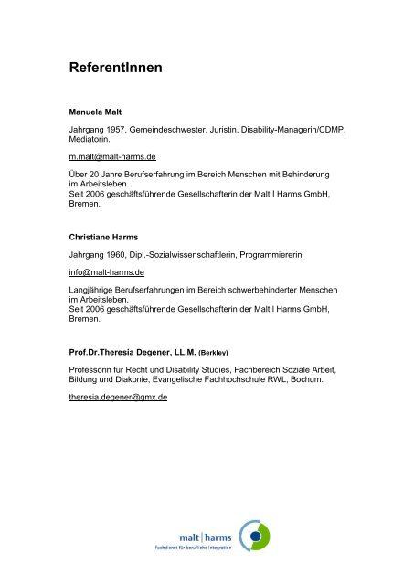 ReferentInnen - malt|harms