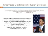 Greenhouse Gas Emission Reduction Strategies - New York State ...