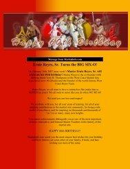 Ernie Reyes, Sr. Turns the BIG SIX-O!
