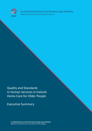 Home Care for Older People Executive Summary