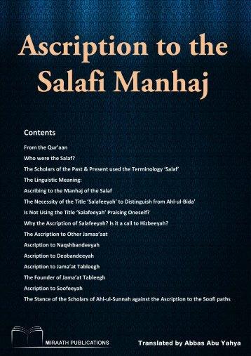 Miraath-Publications-Ascription-to-the-Salafi-Manhaj-2014