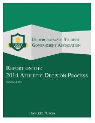 USGA - 2014 Athletic Decision Process Report