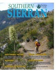 July-September 2013 - Sierra Club - Angeles Chapter