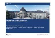 Präsentationen der Redner (.pdf) - ETH Life - ETH Zürich