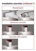 Installation overview Lichtkanal - Modus Lighting - Page 2