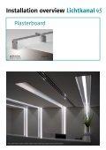 Installation overview Lichtkanal - Modus Lighting - Page 4